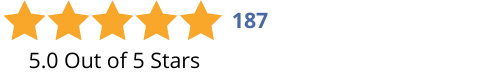 5.0 Stars-187 Reviews