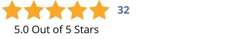 5-0 Stars-32 Reviews